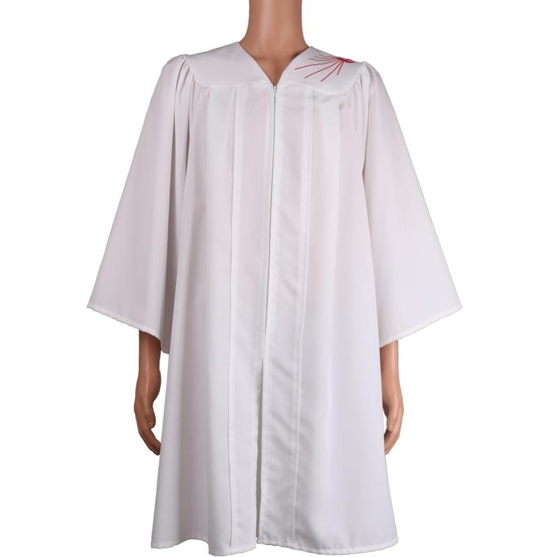 白袍红刺绣坚信服
